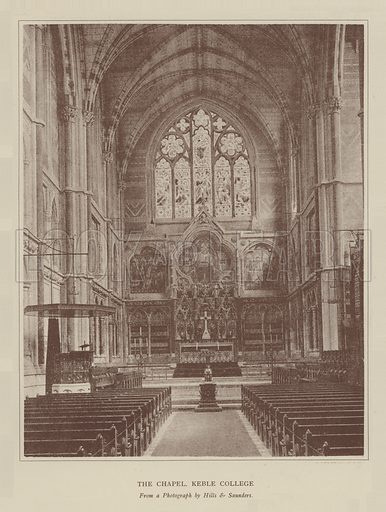 The Chapel, Keble College. Illustration for Oxford Men and their Colleges by Joseph Foster (James Parker, 1893).