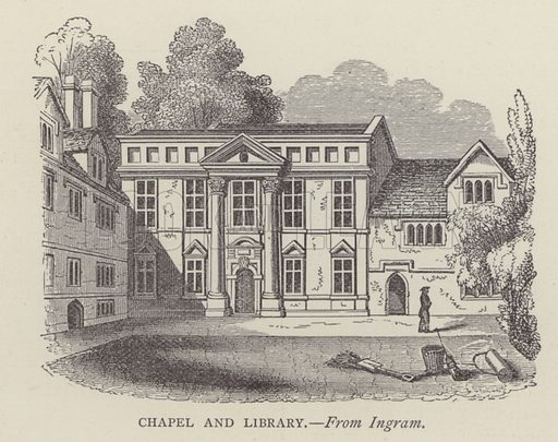Chapel and Library. Illustration for Oxford Men and their Colleges by Joseph Foster (James Parker, 1893).