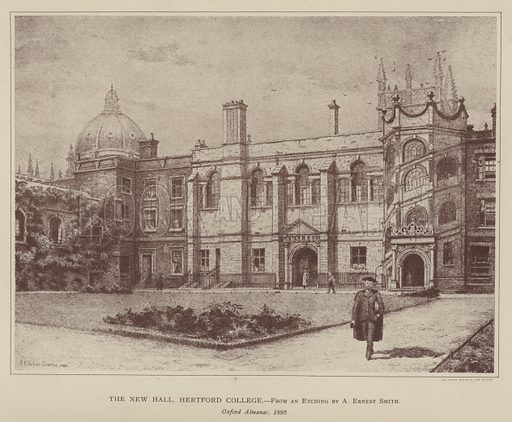 The New Hall, Hertford College. Illustration for Oxford Men and their Colleges by Joseph Foster (James Parker, 1893).