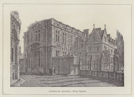 Ashmolean Museum. Illustration for Oxford Men and their Colleges by Joseph Foster (James Parker, 1893).