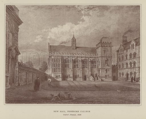 New Hall, Pembroke College. Illustration for Oxford Men and their Colleges by Joseph Foster (James Parker, 1893).