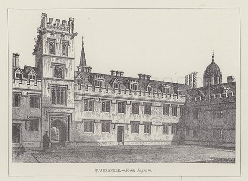 Quadrangle. Illustration for Oxford Men and their Colleges by Joseph Foster (James Parker, 1893).