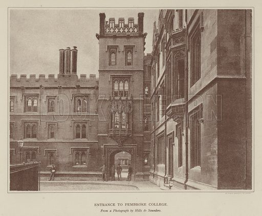 Entrance to Pembroke College. Illustration for Oxford Men and their Colleges by Joseph Foster (James Parker, 1893).