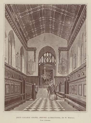 Jesus College Chapel, before Alterations. Illustration for Oxford Men and their Colleges by Joseph Foster (James Parker, 1893).