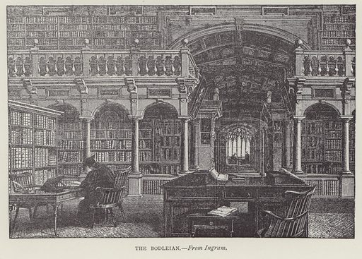 The Bodleian. Illustration for Oxford Men and their Colleges by Joseph Foster (James Parker, 1893).