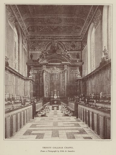 Trinity College Chapel. Illustration for Oxford Men and their Colleges by Joseph Foster (James Parker, 1893).