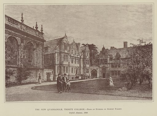 The New Quadrangle, Trinity College. Illustration for Oxford Men and their Colleges by Joseph Foster (James Parker, 1893).