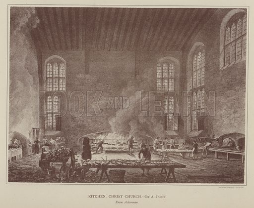 Kitchen, Christ Church. Illustration for Oxford Men and their Colleges by Joseph Foster (James Parker, 1893).