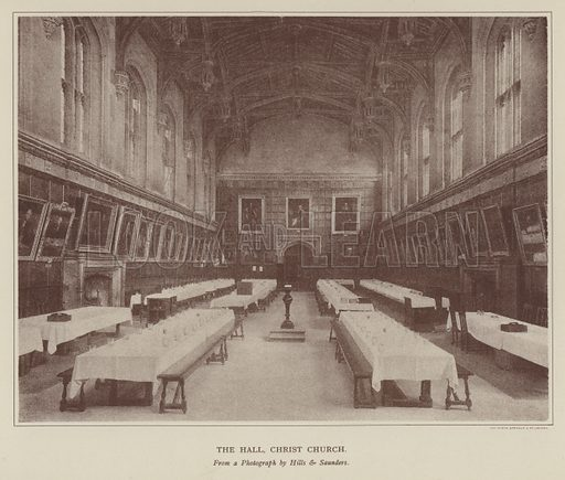 The Hall, Christ Church. Illustration for Oxford Men and their Colleges by Joseph Foster (James Parker, 1893).
