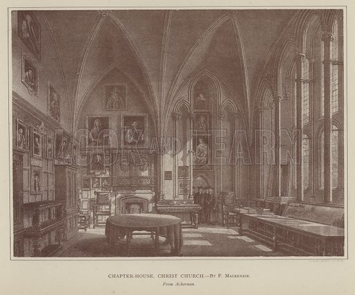 Chapter-House, Christ Church. Illustration for Oxford Men and their Colleges by Joseph Foster (James Parker, 1893).