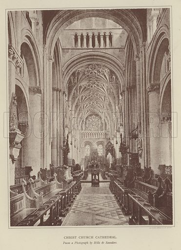 Christ Church Cathedral. Illustration for Oxford Men and their Colleges by Joseph Foster (James Parker, 1893).
