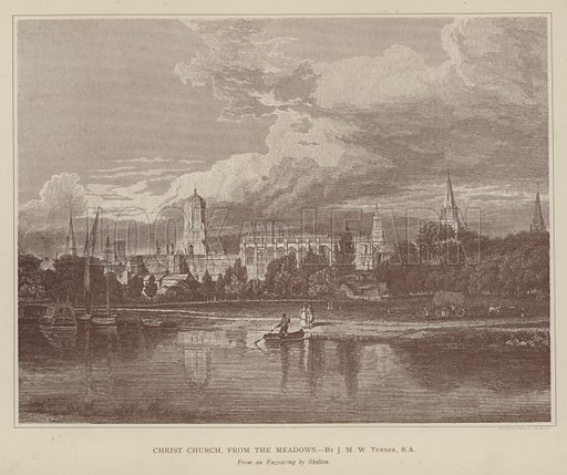 Christ Church, from the Meadows. Illustration for Oxford Men and their Colleges by Joseph Foster (James Parker, 1893).