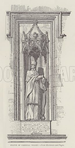 Statue of Cardinal Wolsey. Illustration for Oxford Men and their Colleges by Joseph Foster (James Parker, 1893).