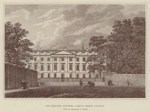 The Fellows' Building, Corpus Christi College. Illustration for Oxford Men and their Colleges by Joseph Foster (James Parker, 1893).
