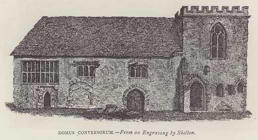 Domus Conversorum. Illustration for Oxford Men and their Colleges by Joseph Foster (James Parker, 1893).