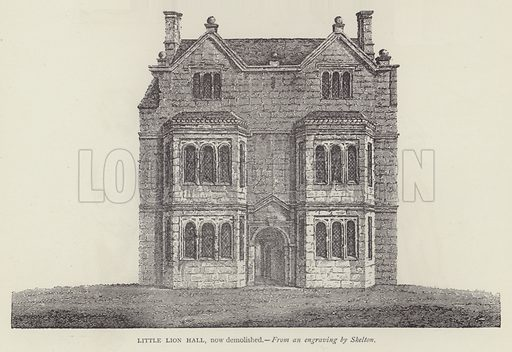 Little Lion Hall, now demolished. Illustration for Oxford Men and their Colleges by Joseph Foster (James Parker, 1893).