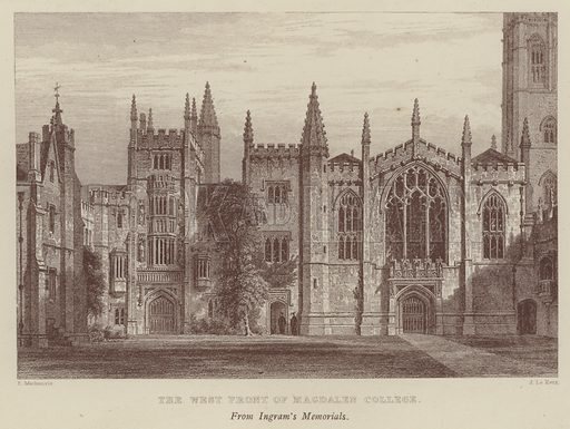 The West Front of Magdalen College. Illustration for Oxford Men and their Colleges by Joseph Foster (James Parker, 1893).