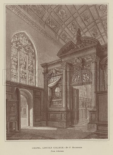 Chapel, Lincoln College. Illustration for Oxford Men and their Colleges by Joseph Foster (James Parker, 1893).