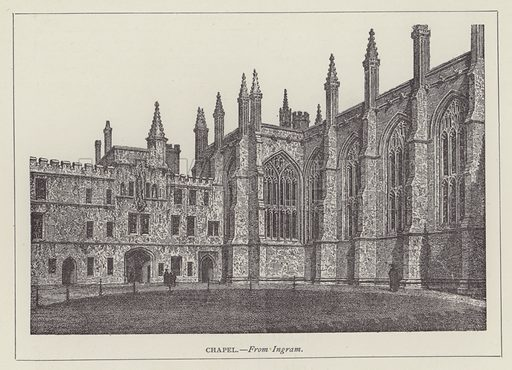 Chapel. Illustration for Oxford Men and their Colleges by Joseph Foster (James Parker, 1893).