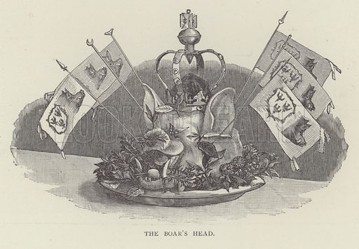 The Boar's Head. Illustration for Oxford Men and their Colleges by Joseph Foster (James Parker, 1893).