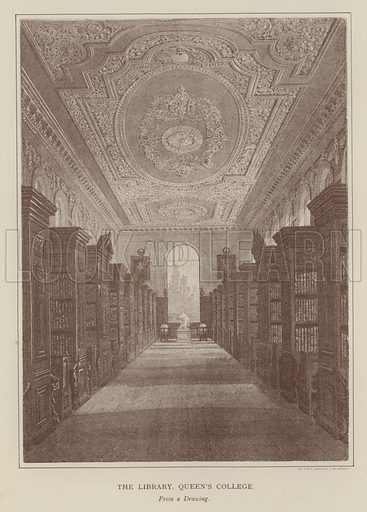 The Library, Queen's College. Illustration for Oxford Men and their Colleges by Joseph Foster (James Parker, 1893).