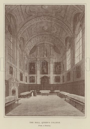 The Hall, Queen's College. Illustration for Oxford Men and their Colleges by Joseph Foster (James Parker, 1893).