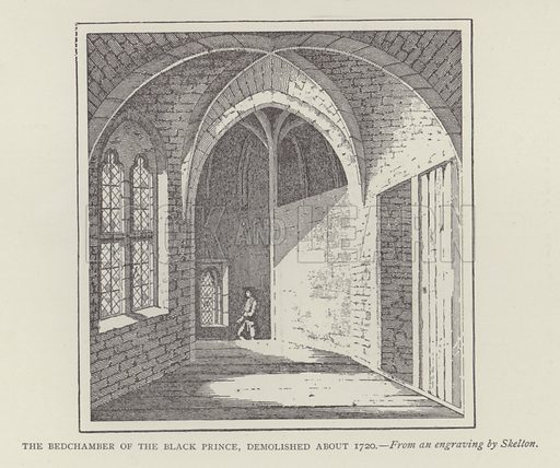 The Bedchamber of the Black Prince, demolished about 1720. Illustration for Oxford Men and their Colleges by Joseph Foster (James Parker, 1893).