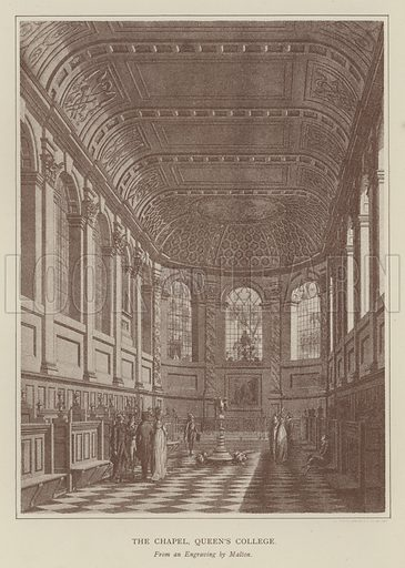 The Chapel, Queen's College. Illustration for Oxford Men and their Colleges by Joseph Foster (James Parker, 1893).