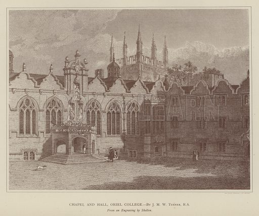 Chapel and Hall, Oriel College. Illustration for Oxford Men and their Colleges by Joseph Foster (James Parker, 1893).