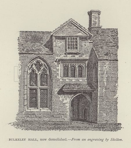 Bulkeley Hall, now demolished. Illustration for Oxford Men and their Colleges by Joseph Foster (James Parker, 1893).