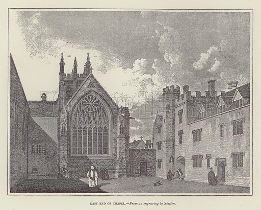 East End of Chapel. Illustration for Oxford Men and their Colleges by Joseph Foster (James Parker, 1893).