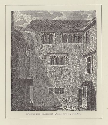 Coventry Hall, demolished. Illustration for Oxford Men and their Colleges by Joseph Foster (James Parker, 1893).