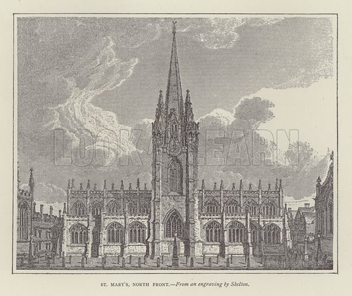 St Mary's, North Front. Illustration for Oxford Men and their Colleges by Joseph Foster (James Parker, 1893).