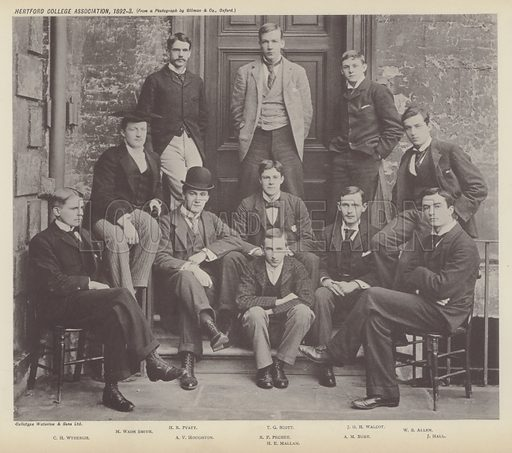 Hertford College Association, 1892–3. Illustration for Oxford Men and their Colleges by Joseph Foster (James Parker, 1893).