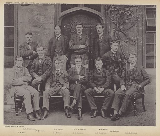 Balliol Association XI, 1892–3. Illustration for Oxford Men and their Colleges by Joseph Foster (James Parker, 1893).