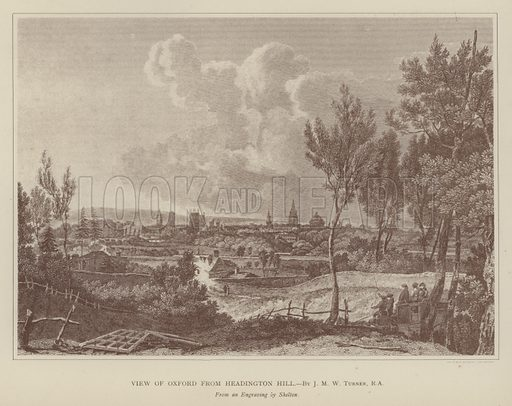 View of Oxford from Headington Hill. Illustration for Oxford Men and their Colleges by Joseph Foster (James Parker, 1893).