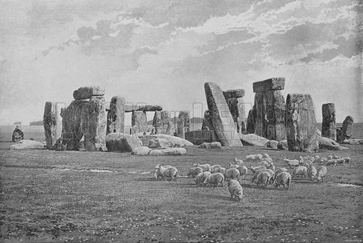 Stonehenge. Illustration for Pictorial England and Wales (Cassell, c 1895).