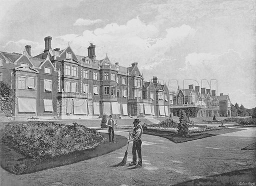Sandringham House. Illustration for Pictorial England and Wales (Cassell, c 1895).