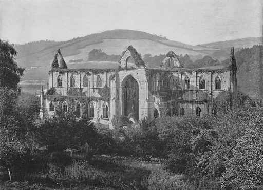 Tintern Abbey. Illustration for Pictorial England and Wales (Cassell, c 1895).