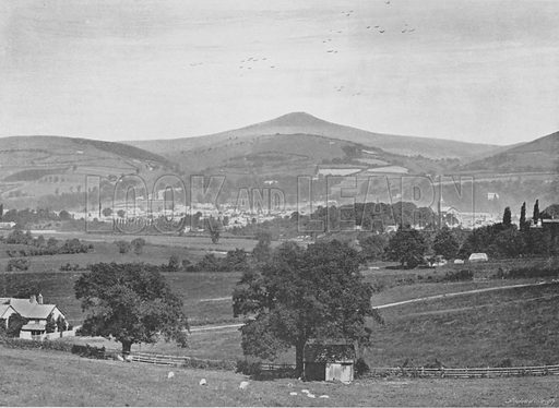 Abergavenny. Illustration for Pictorial England and Wales (Cassell, c 1895).