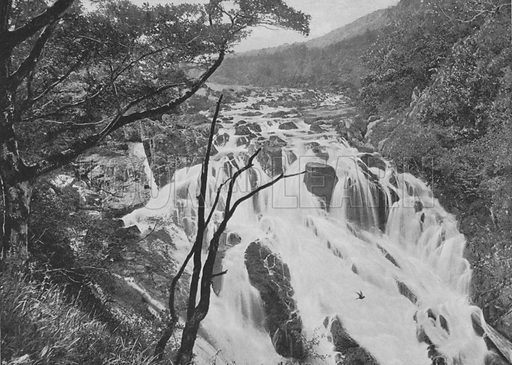 The Swallow Falls, Bettws-y-Coed. Illustration for Pictorial England and Wales (Cassell, c 1895).
