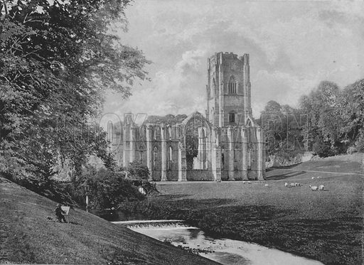 Fountains Abbey. Illustration for Pictorial England and Wales (Cassell, c 1895).