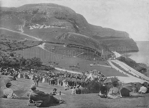 The Happy Valley and Great Orme's Head, Llandudno. Illustration for Pictorial England and Wales (Cassell, c 1895).