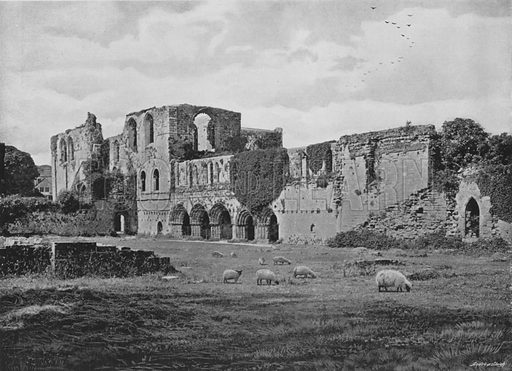 Furness Abbey. Illustration for Pictorial England and Wales (Cassell, c 1895).