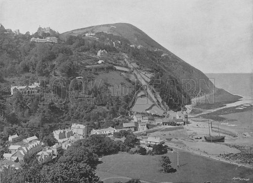 Lynmouth. Illustration for Pictorial England and Wales (Cassell, c 1895).