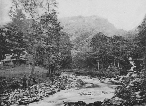 Watersmeet, Lynton. Illustration for Pictorial England and Wales (Cassell, c 1895).