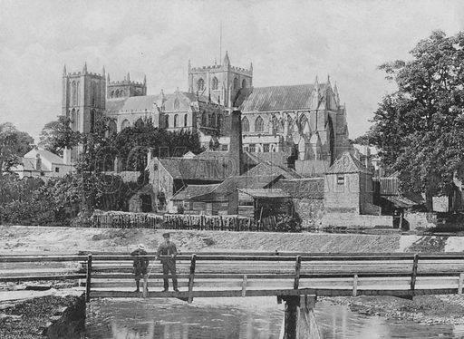Ripon Minster. Illustration for Pictorial England and Wales (Cassell, c 1895).