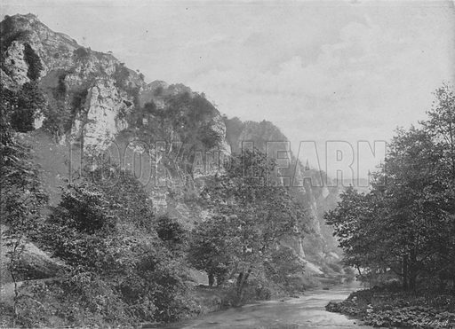 Tissington Spires, Dovedale. Illustration for Pictorial England and Wales (Cassell, c 1895).