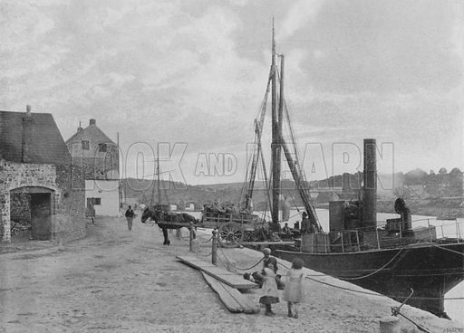 Carmarthen Quay. Illustration for Pictorial England and Wales (Cassell, c 1895).