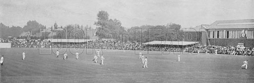 University Cricket Match at Lord's. Illustration for Pictorial England and Wales (Cassell, c 1895).